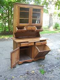Possum Belly Bakers Cabinet by Antique Hoosier Sellers Cabinet Rare Find In This Oak Barrel