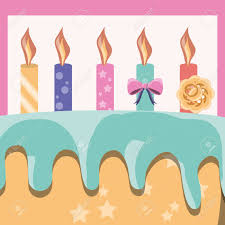 birthday cake with candles icon colorful design vector illustration Stock Vector
