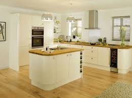 Narrow Kitchen Cabinet Ideas by Glamor High Gloss Cream Colored Kitchen Cabinet Ideas With L
