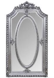 casa padrino antik stil spiegel wandspiegel silber 118 x h 207 cm barock wohnzimmer möbel