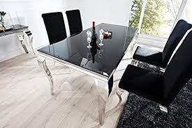 casa padrino esszimmer set schwarz silber esstisch 200 cm