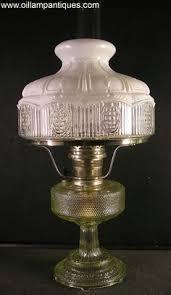 vintage washington drape green aladdin kerosine oil l crystal