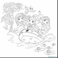 Lego Friends Coloring Pages And Girls Livi