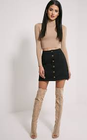 cammie black denim mini skirt closet inspo pinterest denim
