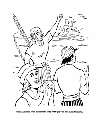 USA Printables Columbus Day Coloring Pages 6