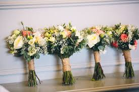 For Her Bouquet Catherine Wanted A Hand Tied Posy Nothing Too Big But Something That Had Loose Natural Style To It Made Up Of Flowers In Coral Tones
