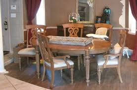 Milk Paint Dining Room Table Painted Furniture Before Chalk Round End