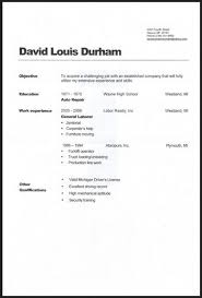 General Labor Warehouse Resume Sample Career Objectives For Objective