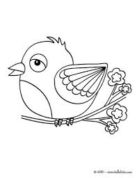 Kawaii Bird Coloring Page