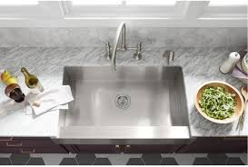 Self Trimming Apron Front Sink by Faucet Com K 3943 Na In Stainless Steel By Kohler
