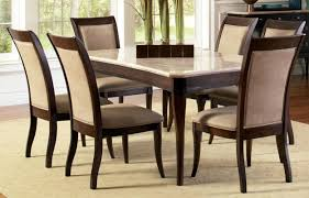 Contemporary Marble Top 8 Piece Dining Table And Chair Set Ebay Cheap Room Furniture