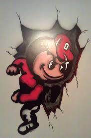 Ohio State Brutus Pumpkin Stencil by Buckeye Ohio State Fan Art Brutus Buckeye Wall Mural By