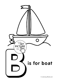 Letter B Coloring Pages Alphabet Words For Kids