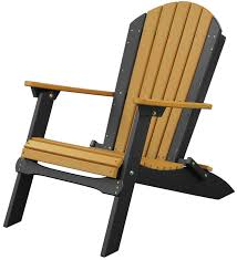 Outer Banks Polywood Folding Adirondack Chair by Luxcraft Poly Folding Adirondack Chair Swingsets Luxcraft Poly