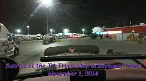 TA Truck Stop Time Lapse Sunrise In Baytown, TX - YouTube