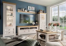 wohnzimmermobel landhausstil weiss caseconrad