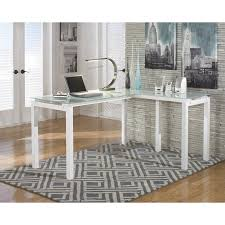 Ashley Furniture Desk And Hutch by Signature Design Ashley Furniture Baraga L Shaped Desk In White