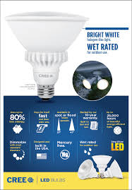 cree 90w equivalent bright white 3000k par38 47 degrees flood
