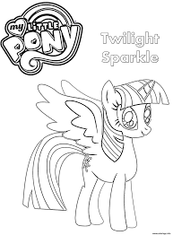 Coloriage Twilight Sparkle My Little Pony JeColoriecom
