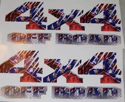 100 Rebel Flag Truck REBEL FLAG 4X4 Off Road Bed Side Or Window Decals