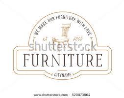 Vintage Furniture Store Logo Hair