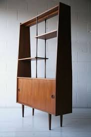 1960s Teak Room Divider Mid Century Modern Display Cabinet More