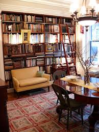 Architect Don Rattners Elegant Brooklyn Heights Dining Room Library