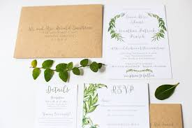 Natural Wedding Invitations Pretty Paper Feature Rustic Oh My Awesome