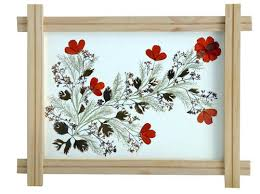 Floral Wooden Wall Frame