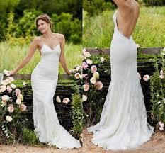 y Lace Beach Wedding Dresses 2018 Spaghetti Straps Low Back