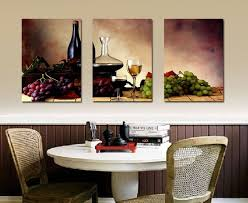 Grapes Wine Home Decoration Canvas Print Modern Wall Painting Art Set Of 3 Each Unframed