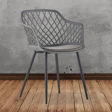 kawola stuhl emilie esszimmerstuhl kunststoff vierfuß grau mit kissen