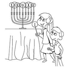 Hanukkah Winter Solstice Coloring Sheet