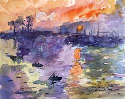 Turning A Famous Painting Into Watercolor Study