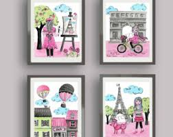 Paris Bedroom Decor Art Prints Nursery Children