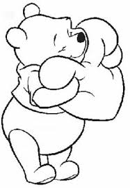 Pooh Disney Valentine Coloring Pages