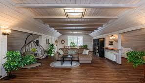 landhaus wohnzimmer idee mit sofa hängesessel