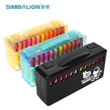 SIMBALION 36 Color Marker Premium Painting Watercolor Markers Pen Effect Best For Coloring Books Manga Comic