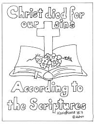 Cross And Bible Print Color Page 1 Corinthians 153