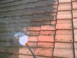 carlsbad tile roof cleaning with pressure washer