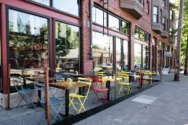 Best Outdoor Seating Seattle Restaurants Downtown Mbar Menu