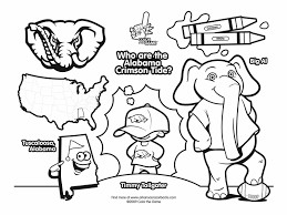 Popular Alabama Football Coloring Pages