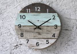 Beach Clock Round Reclaimed Wood Wall Clock. Pale Seafoam Rustic Wall Clock Oversized Oval Roman Numeral 40cm Pallet Wood Diy Youtube Pottery Barn Shelves 16 Image Avery Street Design Co Farmhouse Clocks And Fniture Best 25 Large Wooden Clock Ideas On Pinterest Old Wood Projects Reclaimed Home Do Not Use Lighting City Reclaimed Barn Copper Pipe Round Barnwood Timbr Moss Clock16inch Diameter Products
