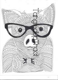 Detailed And Intricate Pig Zentangle Coloring Page To Download Color
