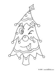 Live Xmas Tree Funny Coloring Page