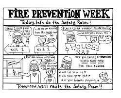 Fire Safety For Kids Coloring Pages Children