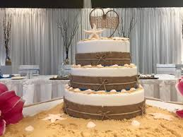 3 Tier Rustic Beach Wedding Cake