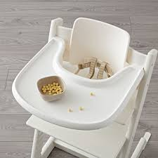 Stokke High Chair Tray by White Stokke Tripp Trapp Tray The Land Of Nod