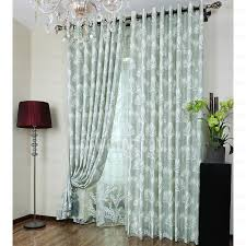 light green polyester insulated living room curtains