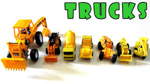 100 Trucks For Children CONSTRUCTION VEHICLES Toy Tractor Backhoe